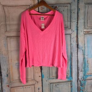 Victoria's Secret Cropped Long Sleeve Top L